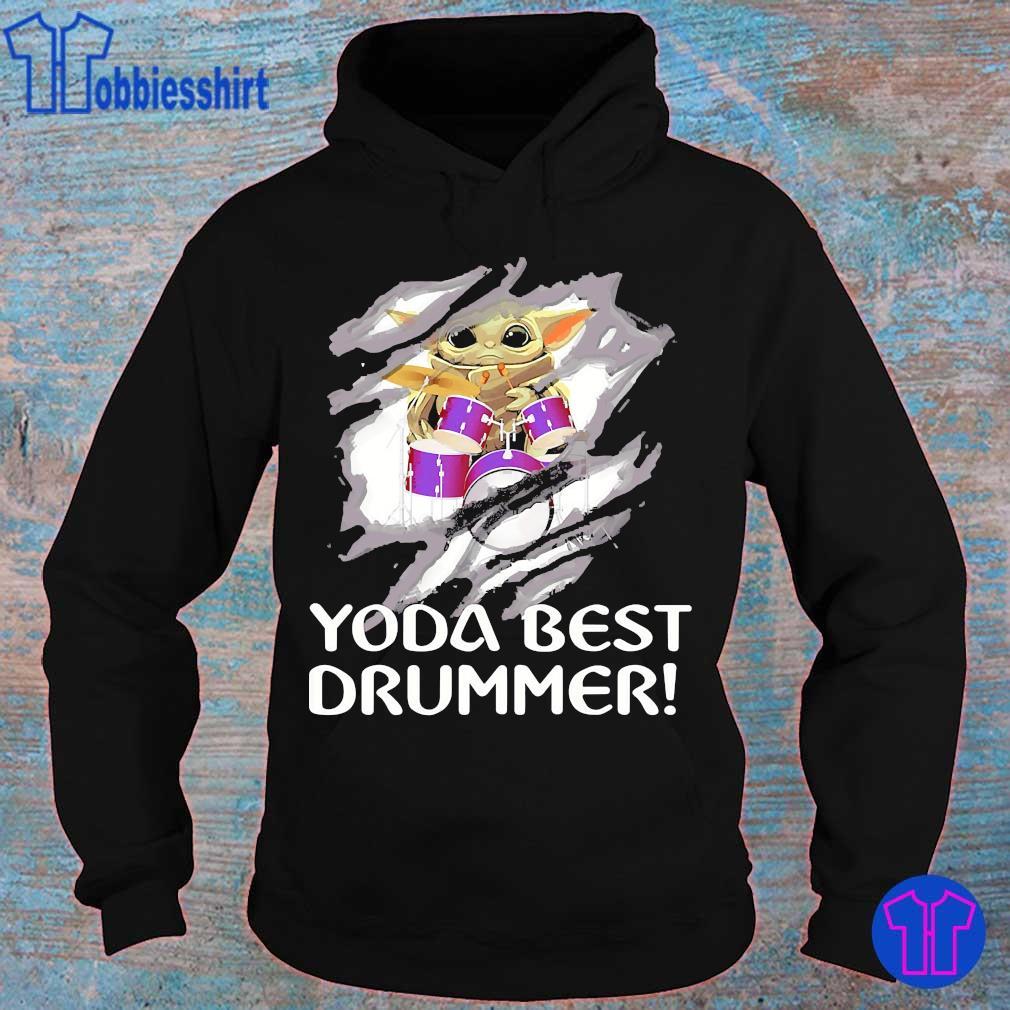 Blood inside me Baby Yoda best drummer s hoodie