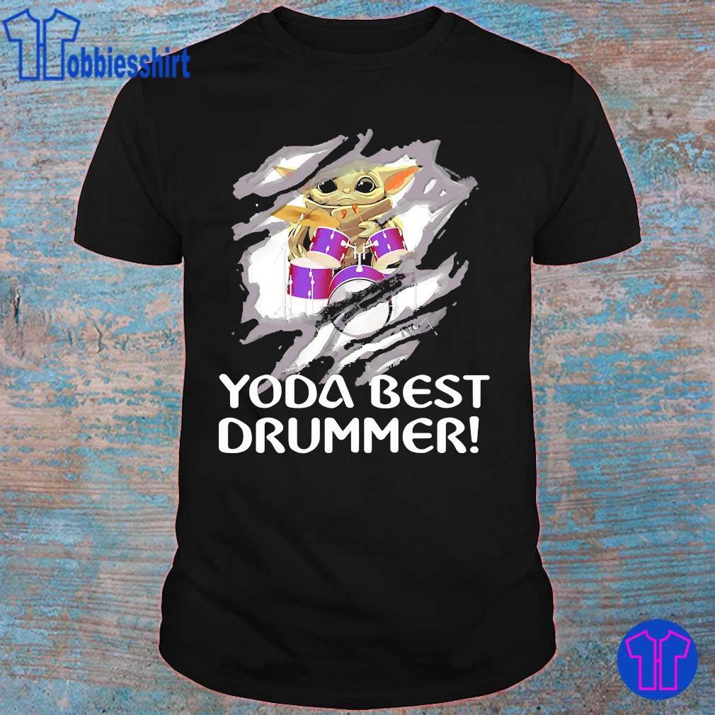 Blood inside me Baby Yoda best drummer shirt