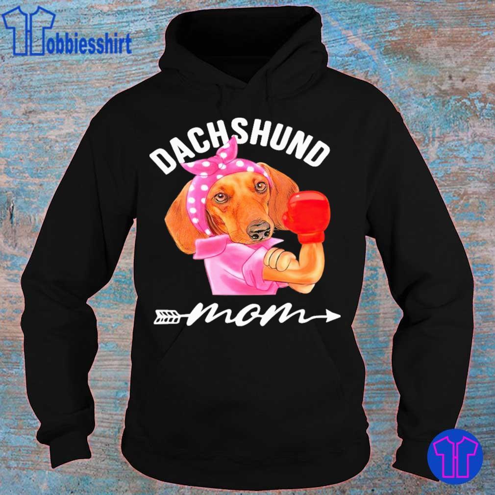 Dachshund Mom boxing s hoodie