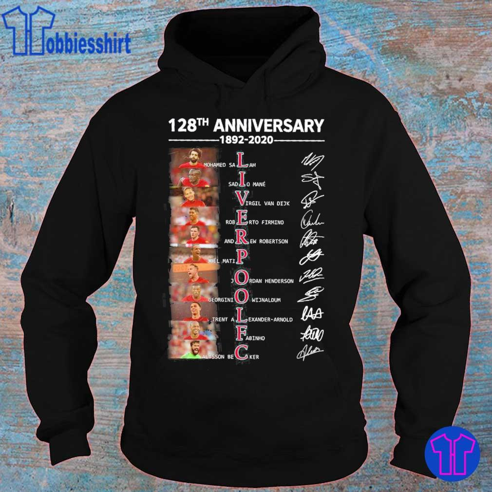 Liverpool 128th anniversary 1892 2020 legends signatures s hoodie