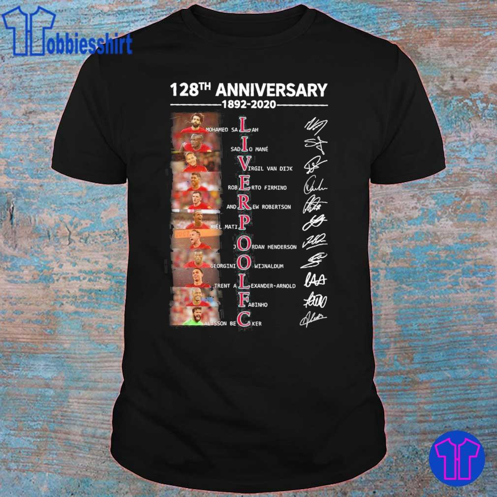 Liverpool 128th anniversary 1892 2020 legends signatures shirt
