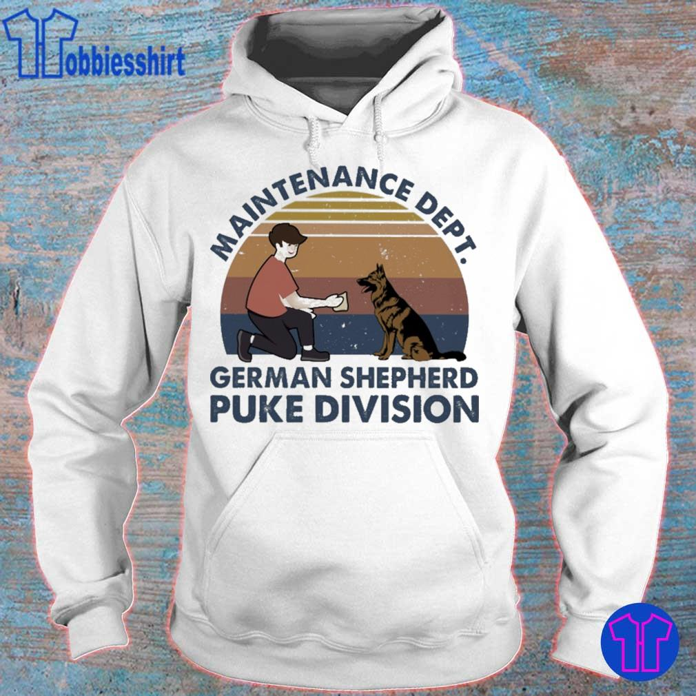 Maintenance dept french Shepherd puke division vintage s hoodie