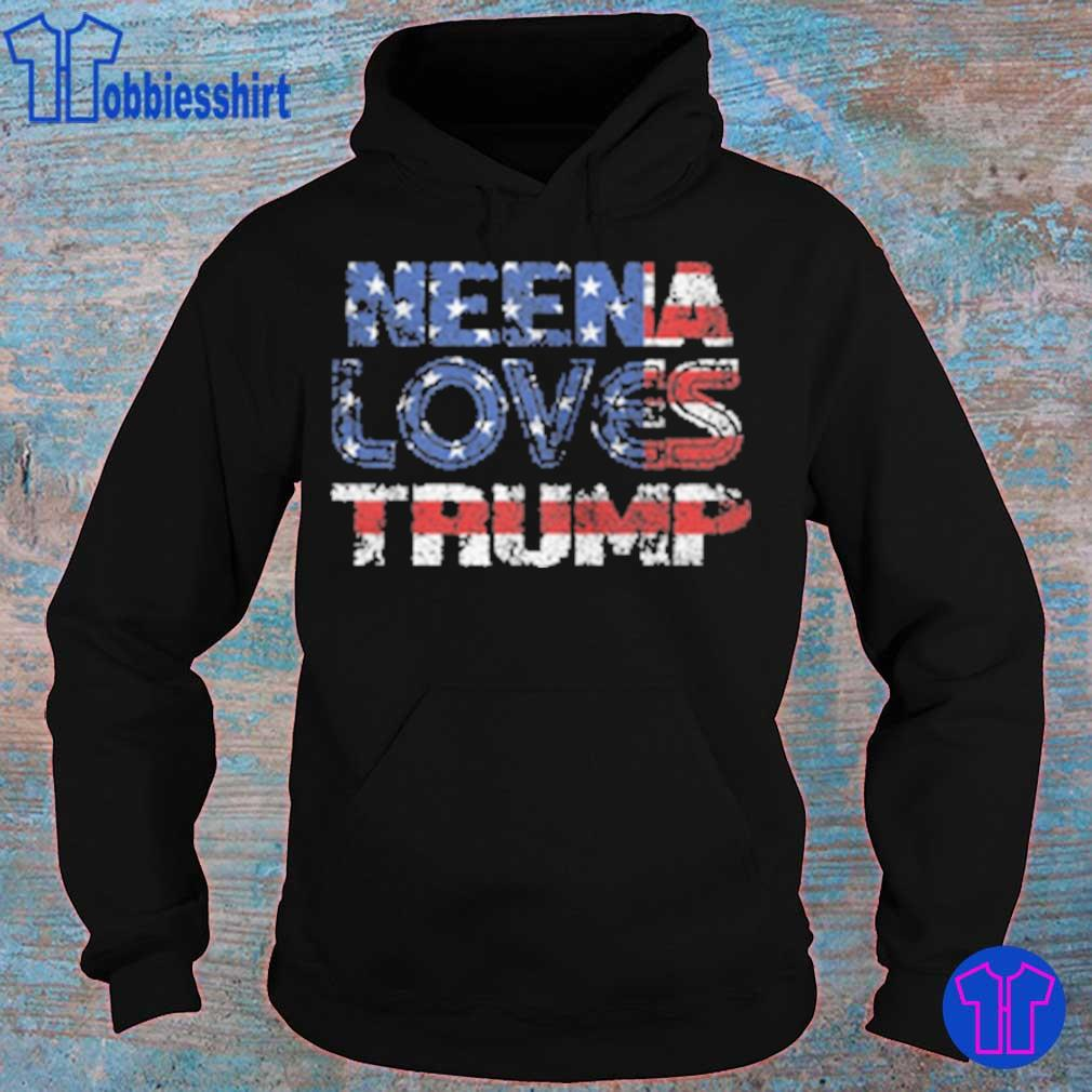 Neena Loves Trump American flag s hoodie