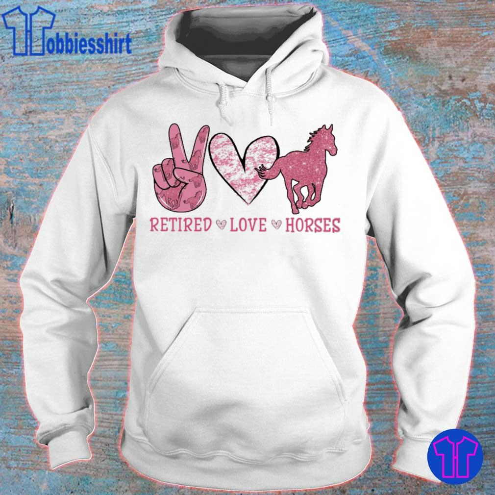 Retired Love Horses diamond s hoodie