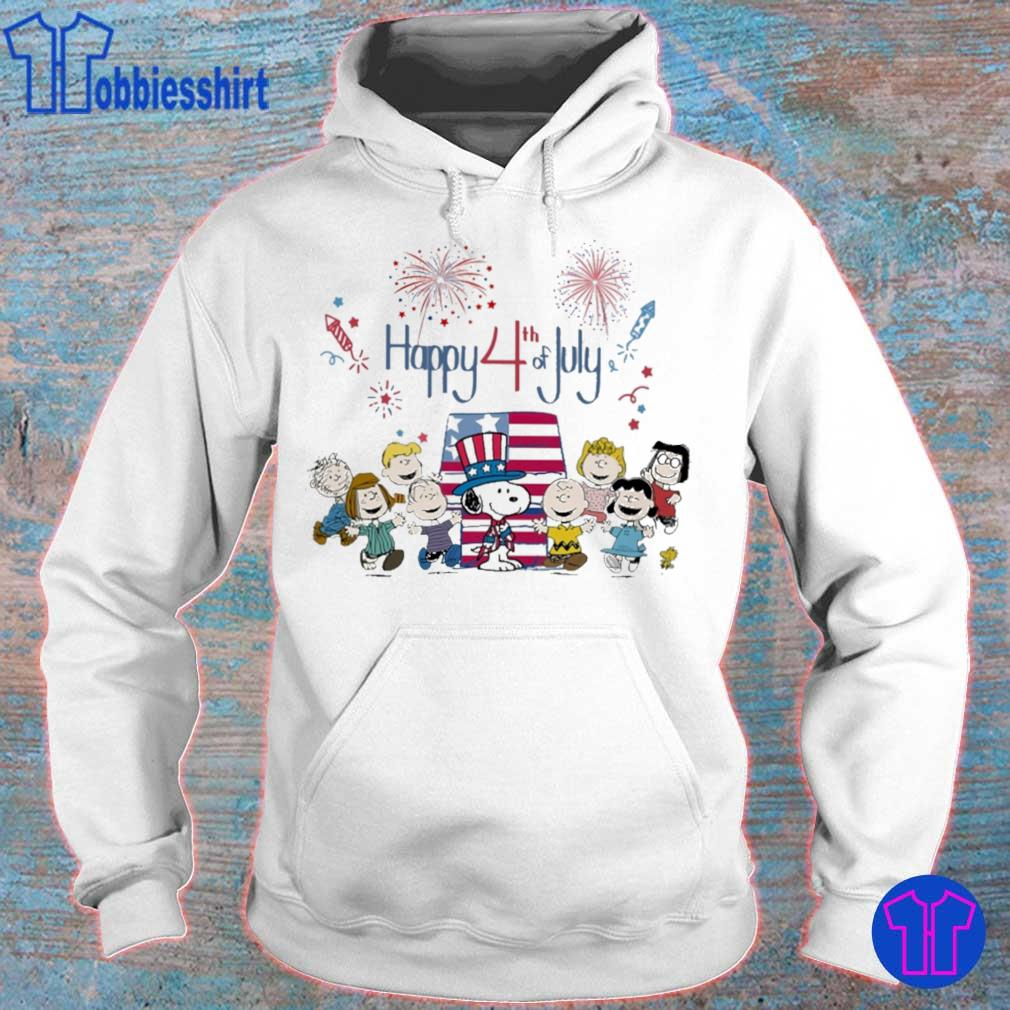 The peanuts happy 4th of July American flag s hoodie