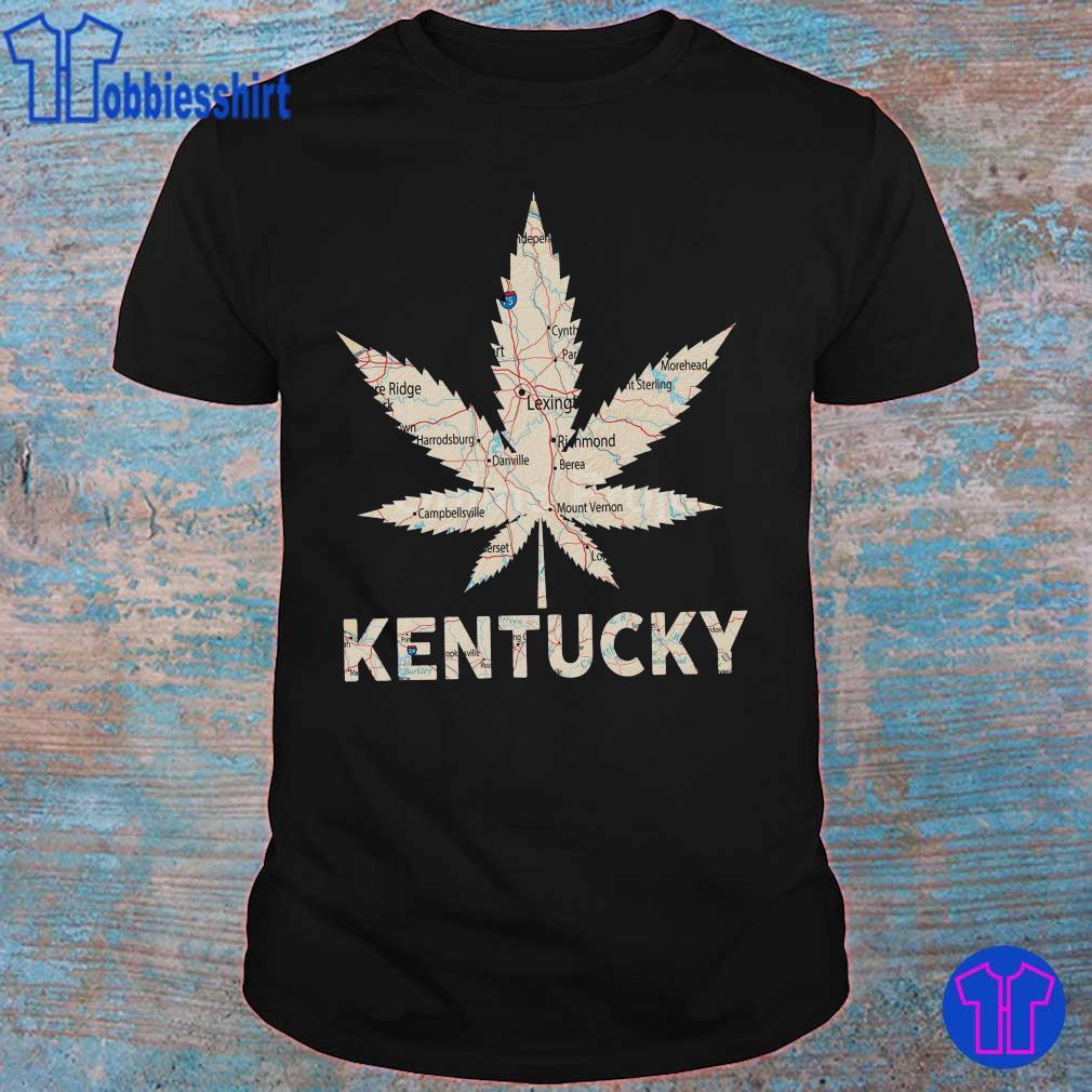 Stop-Symbol-with-Marijuana-Leaf Mens Long Sleeve Crew Neck Pullover