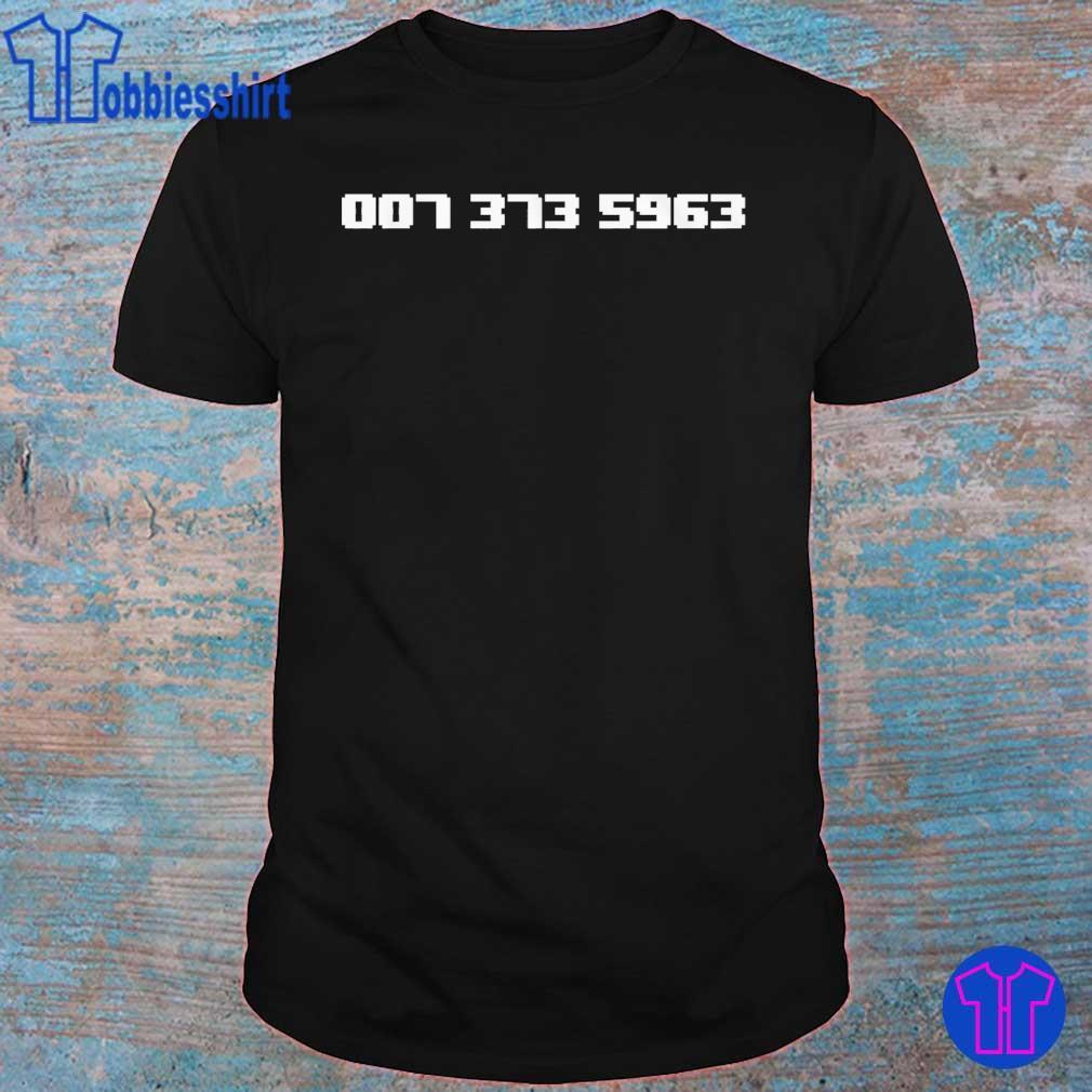 007 373 5963 shirt