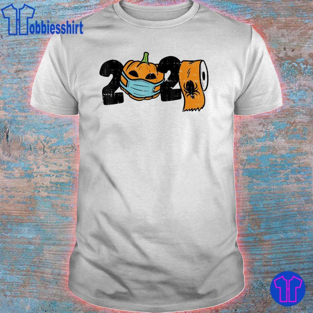 2020 Pumpkin In Mask Toilet Paper Halloween Quarantine Shirt