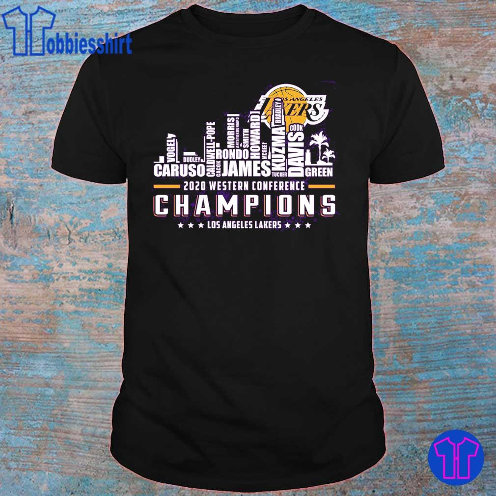 2020 western conference Champions Los angeles Lakers shirt