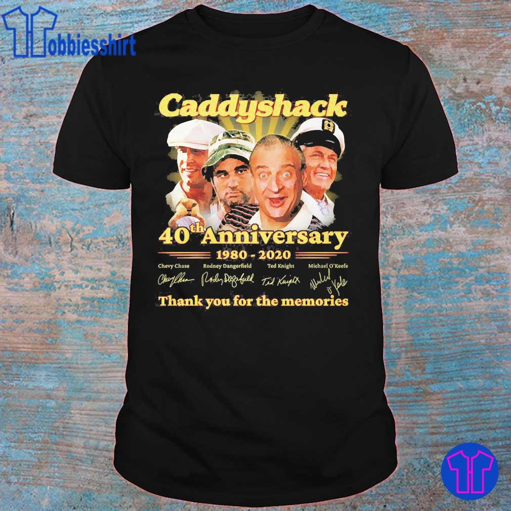 Caddyshack 40th anniversary 1980 2020 thank You for the memories signatures shirt
