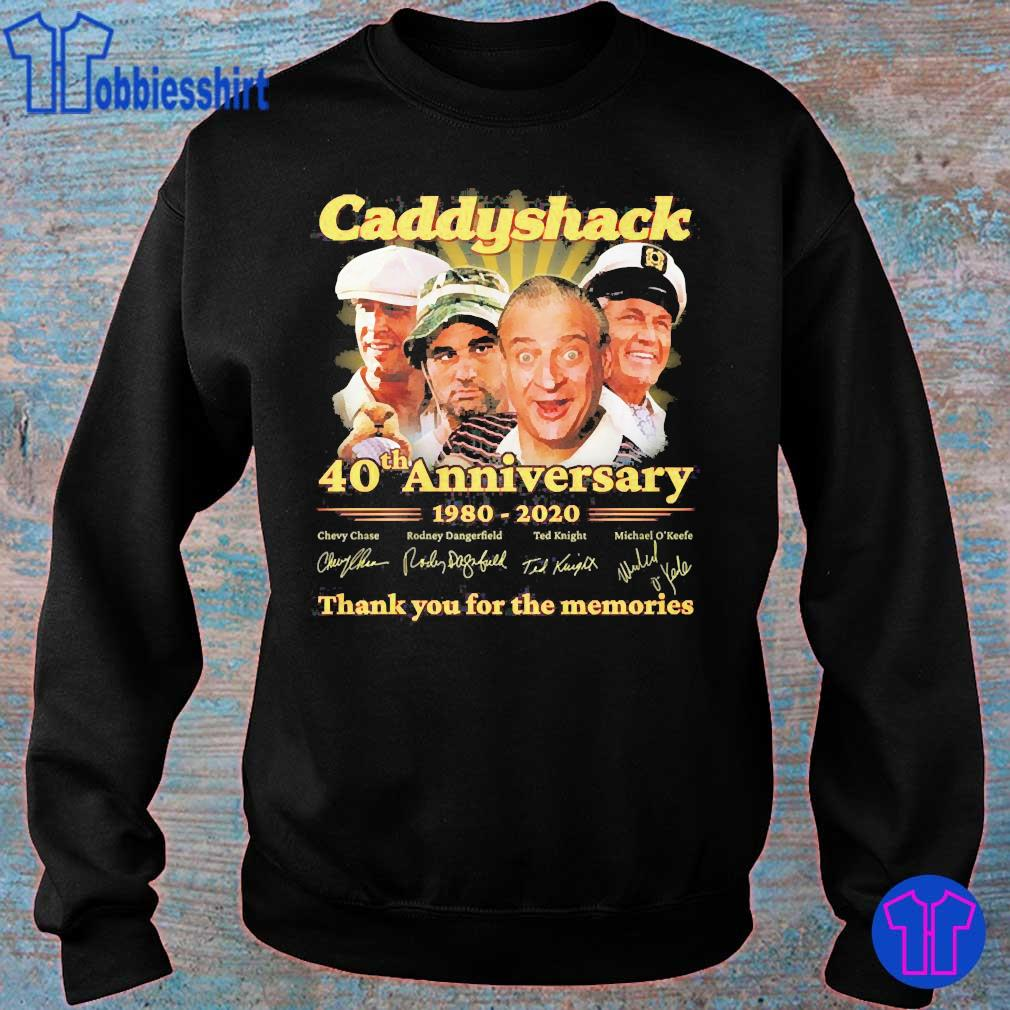 Caddyshack 40th anniversary 1980 2020 thank You for the memories signatures s sweater