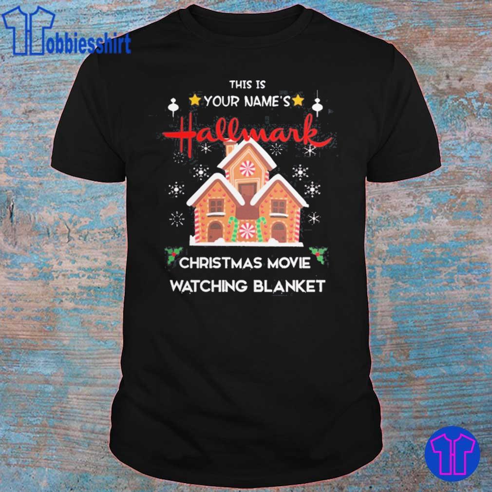 Custom name Hallmark Christmas movie watching shirt