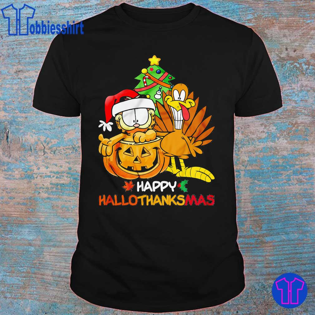 Garfield Happy Hallothanksmas Shirt Hoodie Sweater Long Sleeve And Tank Top