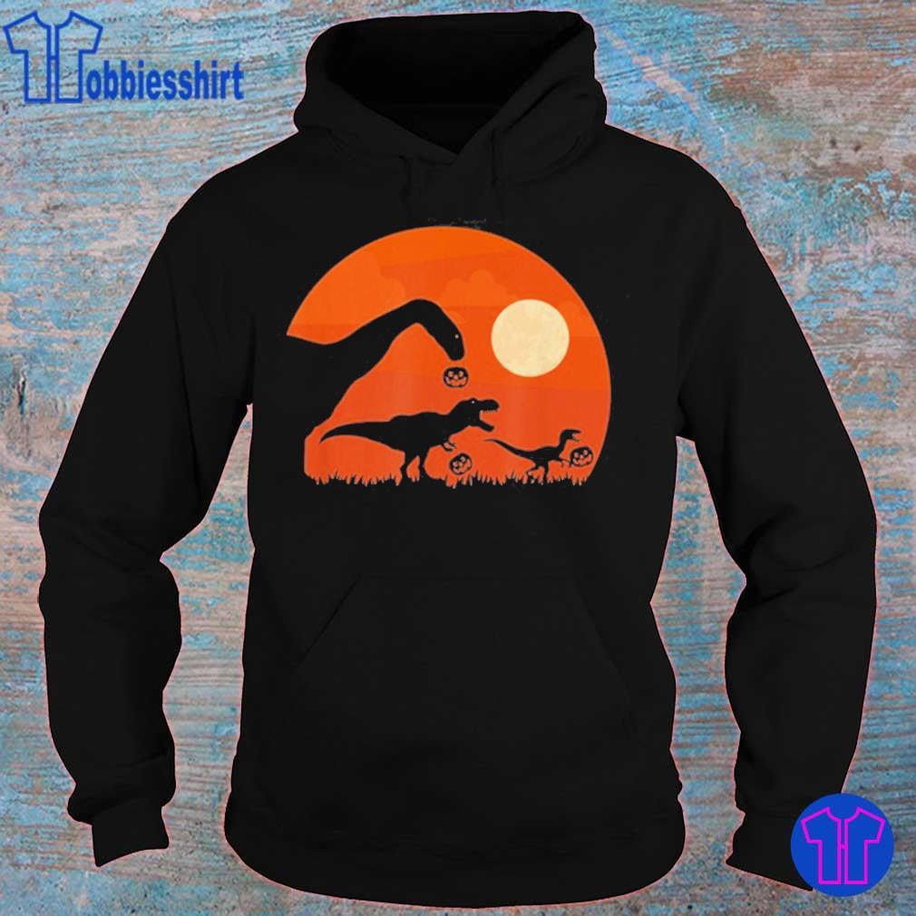 Halloween Dinosaur Rex Pumpkin Shirt hoodie