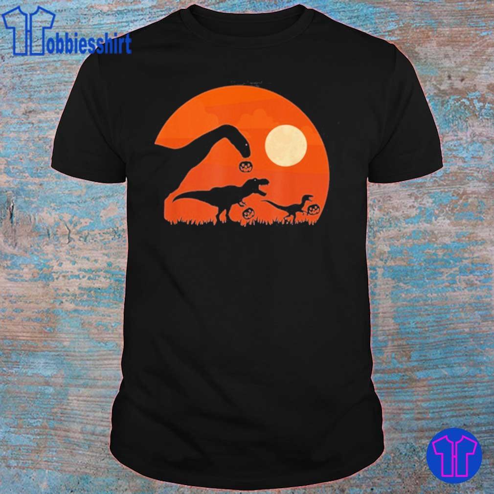 Halloween Dinosaur Rex Pumpkin Shirt
