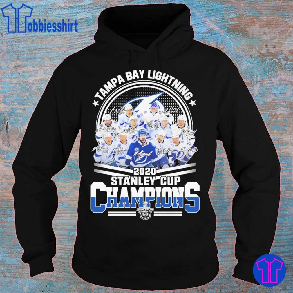 Tampa Bay lightning 2020 stanley cup Champions signatures s hoodie