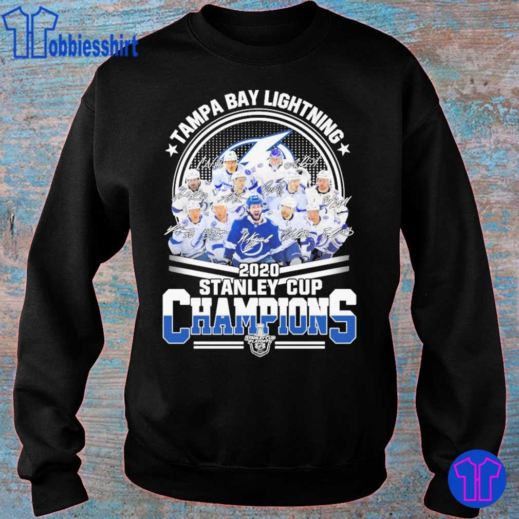 Tampa Bay lightning 2020 stanley cup Champions signatures s sweater
