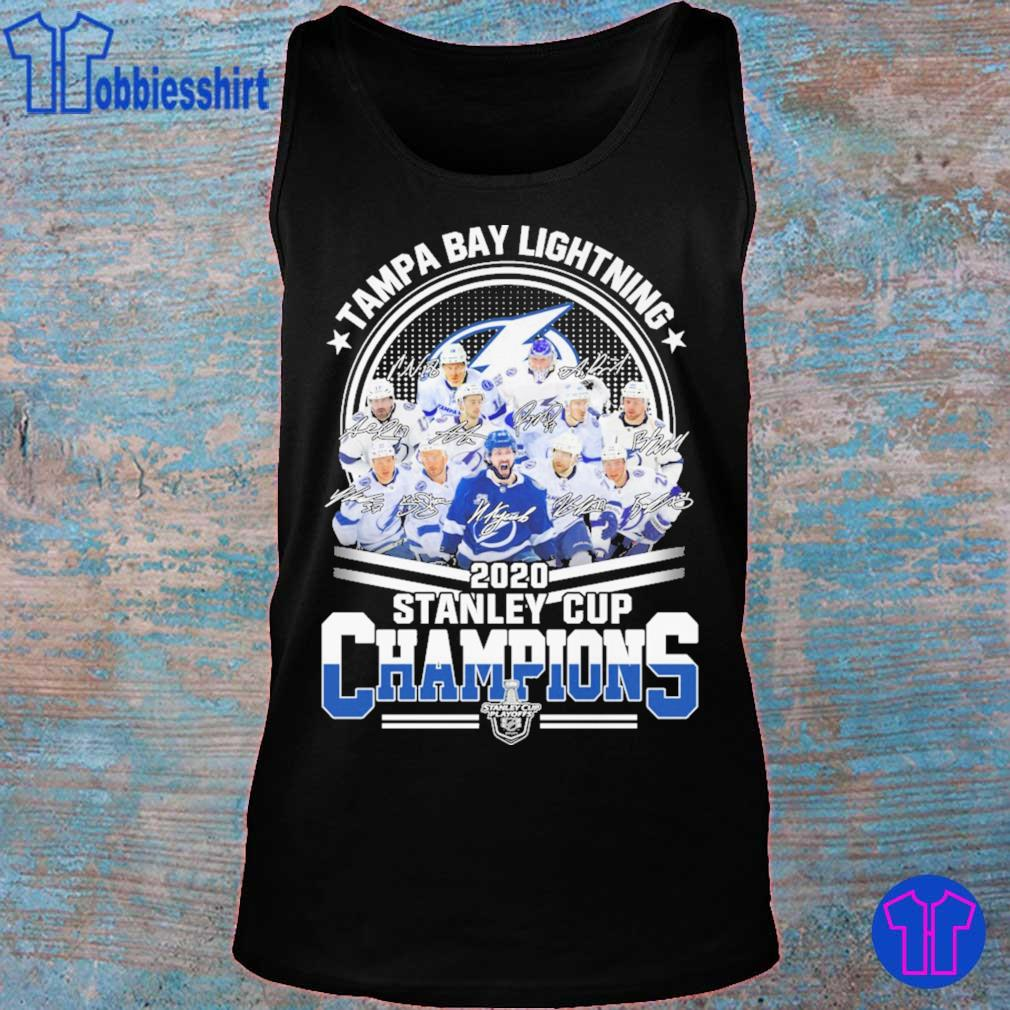 Tampa Bay lightning 2020 stanley cup Champions signatures s tank top