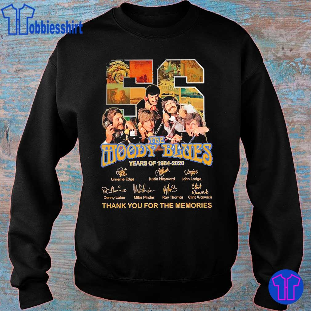 The Moody Blues 56 Years of 1964 2020 thank You for the memories signatures s sweater