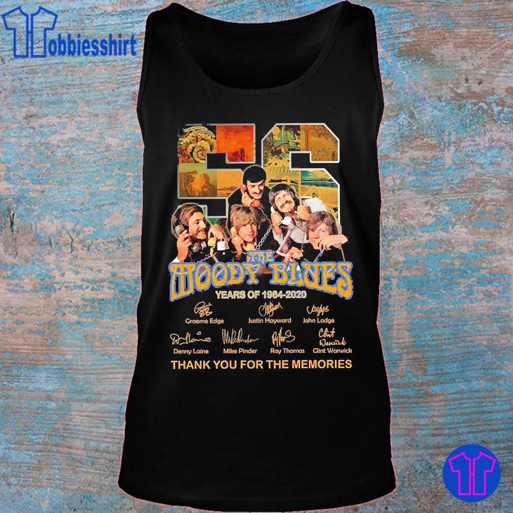 The Moody Blues 56 Years of 1964 2020 thank You for the memories signatures s tank top