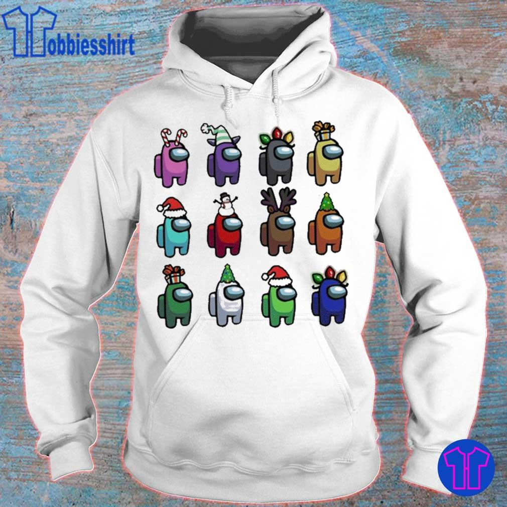 Official Among Us Christmas Character – Among Us Customize Christmas Best Friend Shirt hoodie