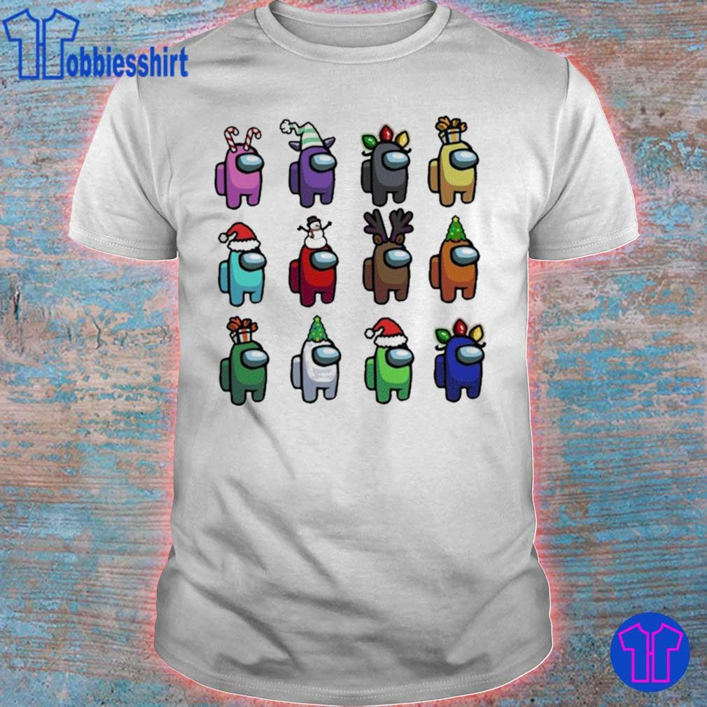 Official Among Us Christmas Character – Among Us Customize Christmas Best Friend Shirt