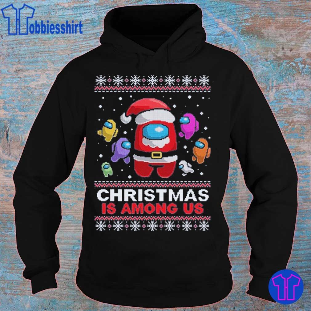 Official Friend Among Us- Christmas Amongus Crewmate Impostor Santa Reindeer Elf Sublimation Shirt hoodie