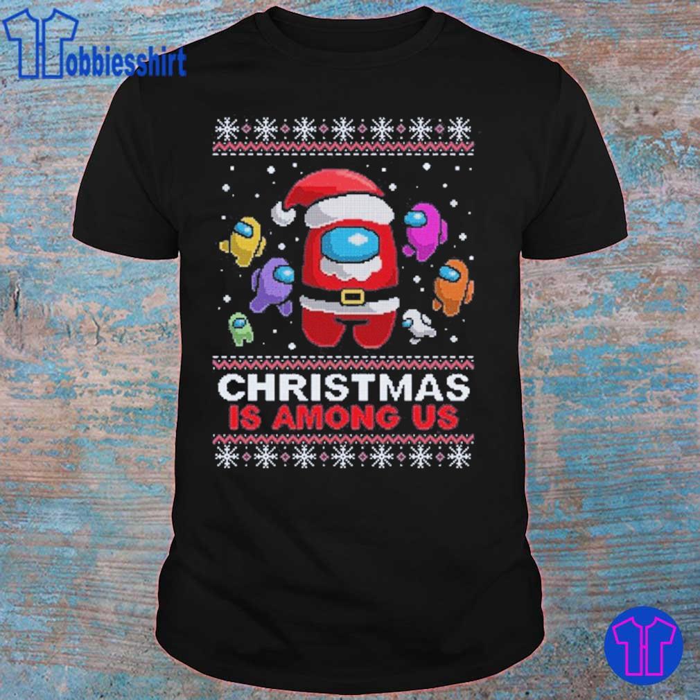 Official Friend Among Us- Christmas Amongus Crewmate Impostor Santa Reindeer Elf Sublimation Shirt