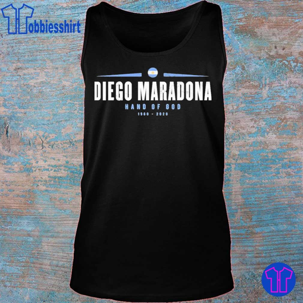 Official Rip Diego Maradona Hand Of God 1960-2020 Shirt tank top