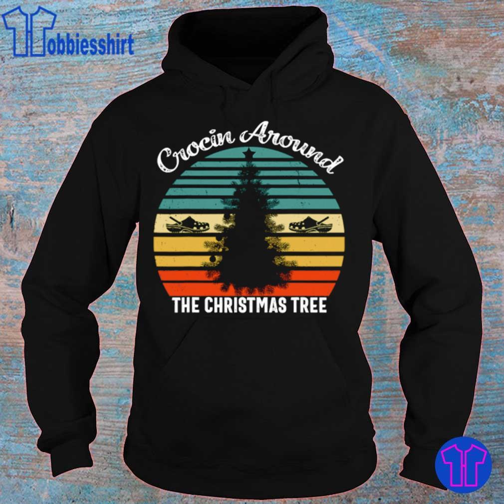Official Crocin Around The Christmas Tree Xmas Vintage Shirt hoodie