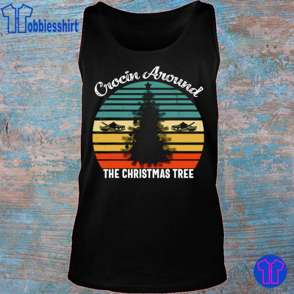 Official Crocin Around The Christmas Tree Xmas Vintage Shirt tank top